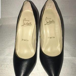 Christian louboutin black heels sz 10